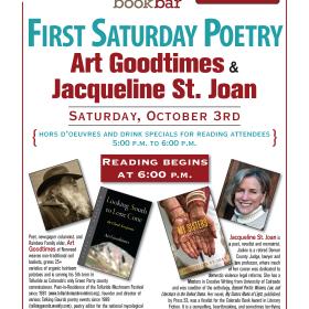 Goodtimes and St. Joan at BookBar October 3rd